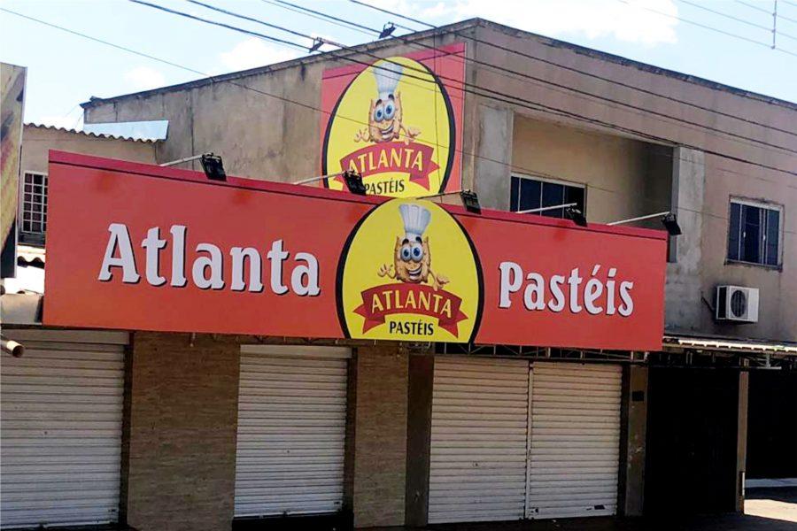 Fachada em lona - Atlanta pasteis